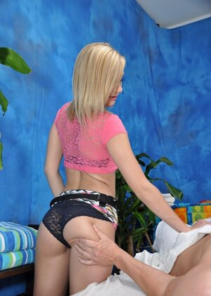 Floozy from a massage parlor Chloe Brooke allows client to sneak into her