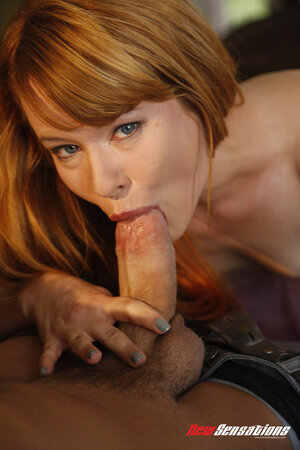 Girlfriend with red hair fucked into pussy she didn't shave about a week